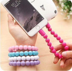 USB Cable Beads Bracelet