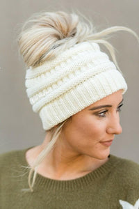 Warm Knitted Hole Beanie