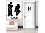 Waterproof Toilet Symbol Sticker