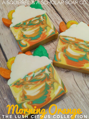 THE LUSH CITRUS COLLECTION: MORNING ORANGE HANDMADE SOAP