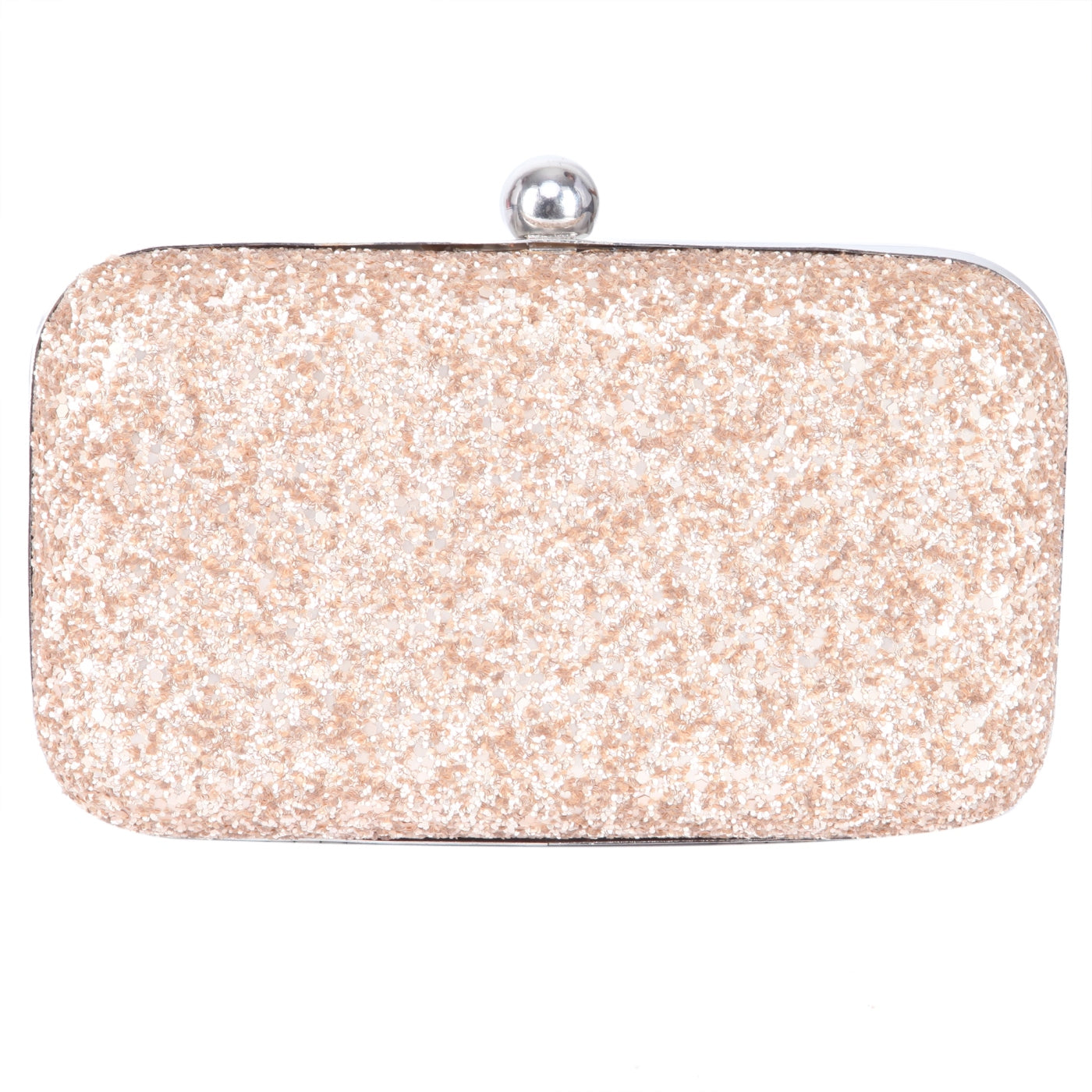 A classy companion to your evening sophistication is this gorgeous Gold color clutch from TARUSA. Given a structured design with a shimmery finish for an exquisite definition, this plush and durable Fabric offers ample room for all your makeup and beauty essentials.