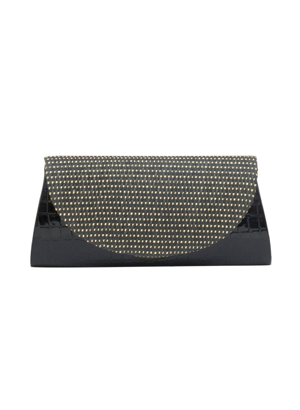 Sleek and spacious, this Black clutch from Tarusa makes for an instant steal this season. Showcasing a classic design, this clutch offers longevity too, courtesy its Textured Fabric body.