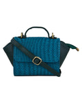 TARUSA Aquamarine Blue Animal Print Texture Sling Bag