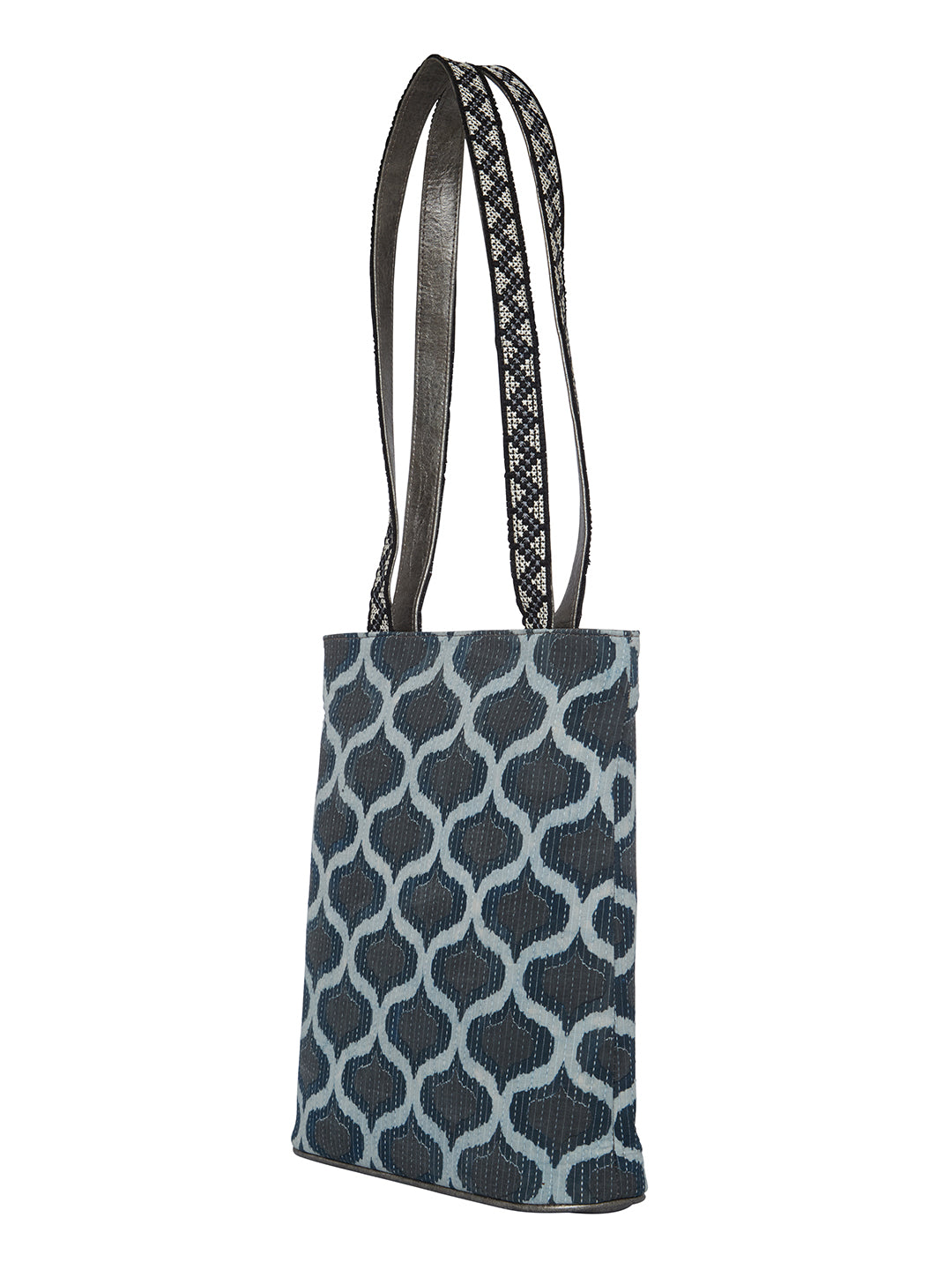 TARUSA Blue Geometric Sling Bag