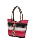 TARUSA Red Geometric Tote Bag