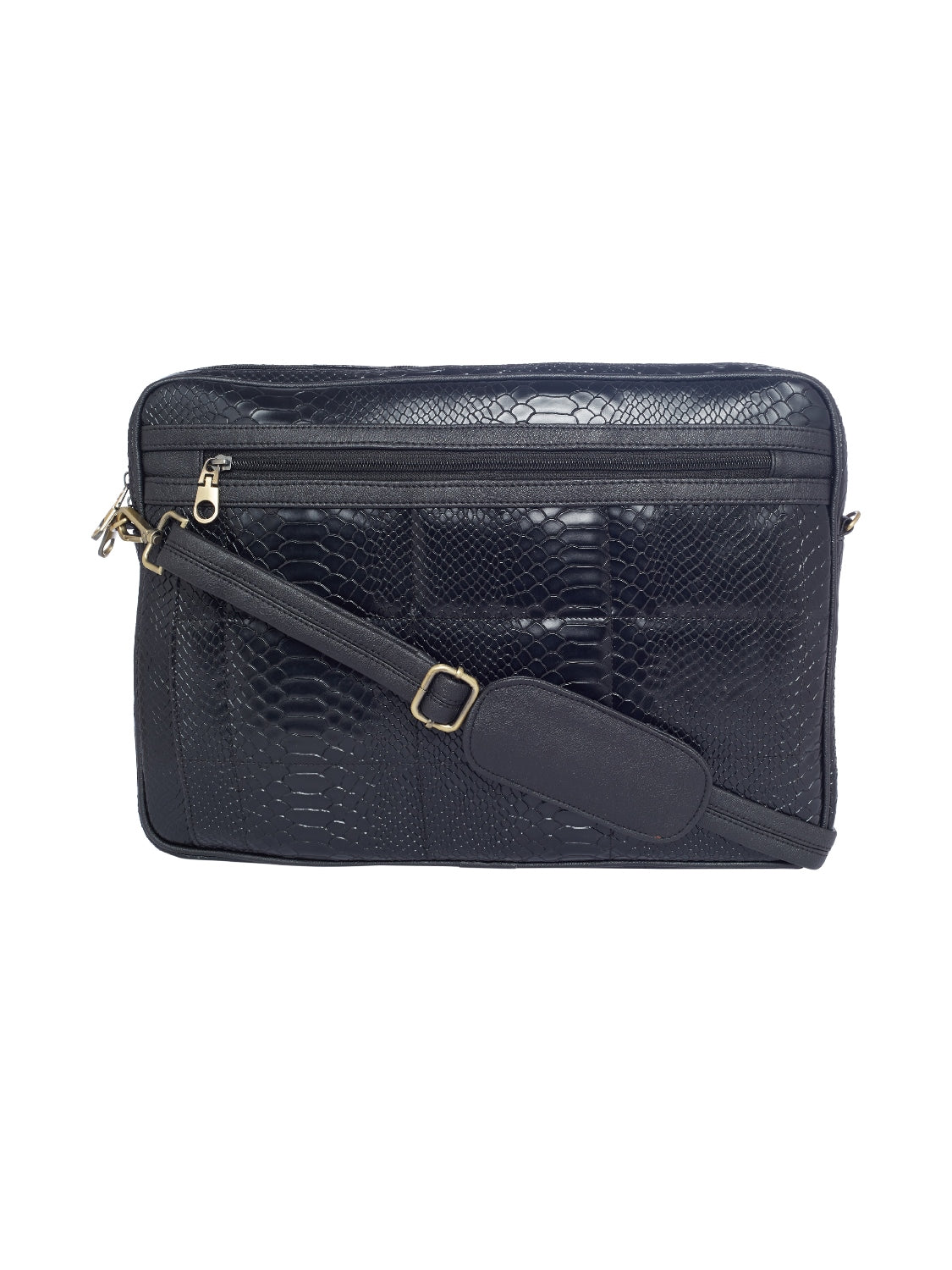 TARUSA Solid Black Color Laptop Bag