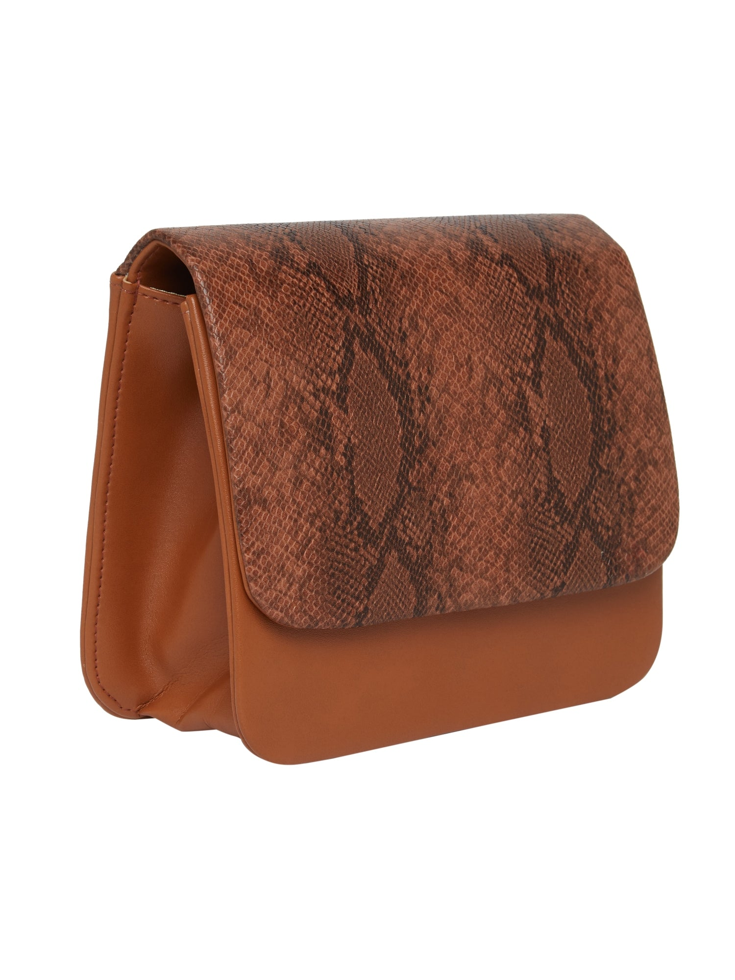 TARUSA Textured Brown Sling Bag