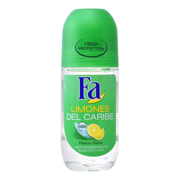 Roll-On Deodorant Caribische Limoenen Fa (50 ml)