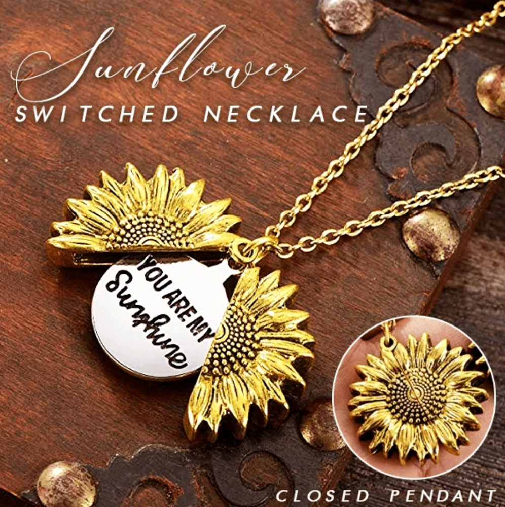 You Are My Sunshine Sunflower Ketting - hypie.nl