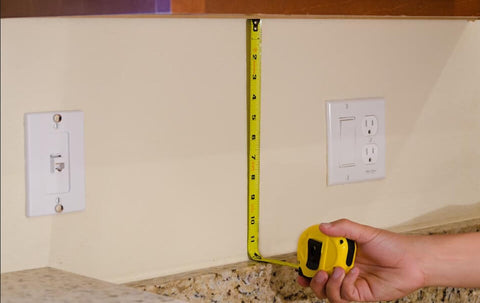 measuring the height of your backsplash