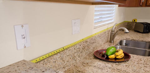 calculating the length of your backsplash - step 2
