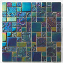 Glass Mosaic Pool Tile Black Sand