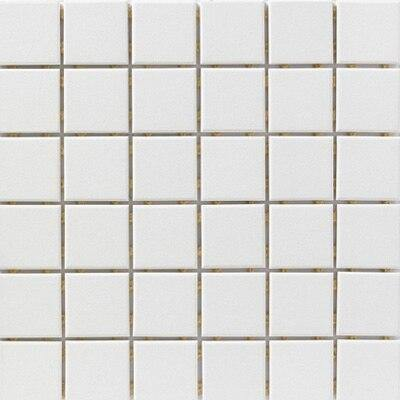 Snow White Porcelain Mosaic Tile Matte Finish 2 x 2