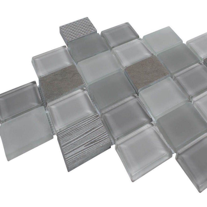 Diamond Antracita Stone & Glass Tile