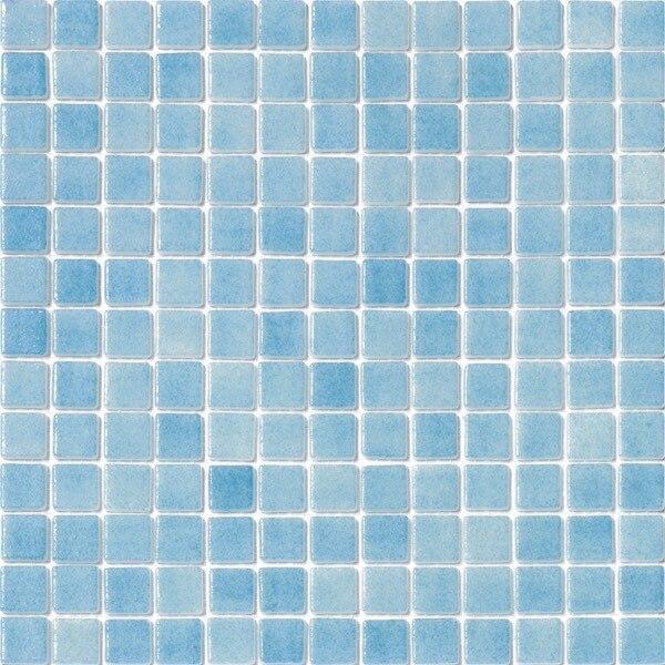 Recycled Glass Tile Nieblas Fog Celestial Blue