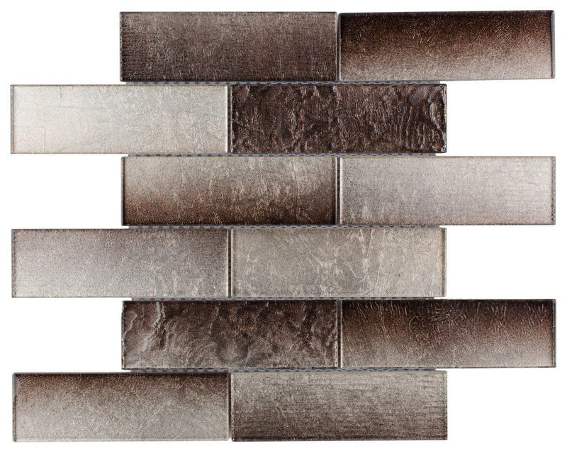 Glass Subway Tile Pure Cocoa 2x6