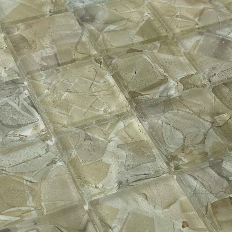 Liquid Glass Mosaic Tile Honey 2 x 2