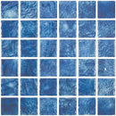 Glass Pool Mosaic Tile Pacific Blue 2 x 2