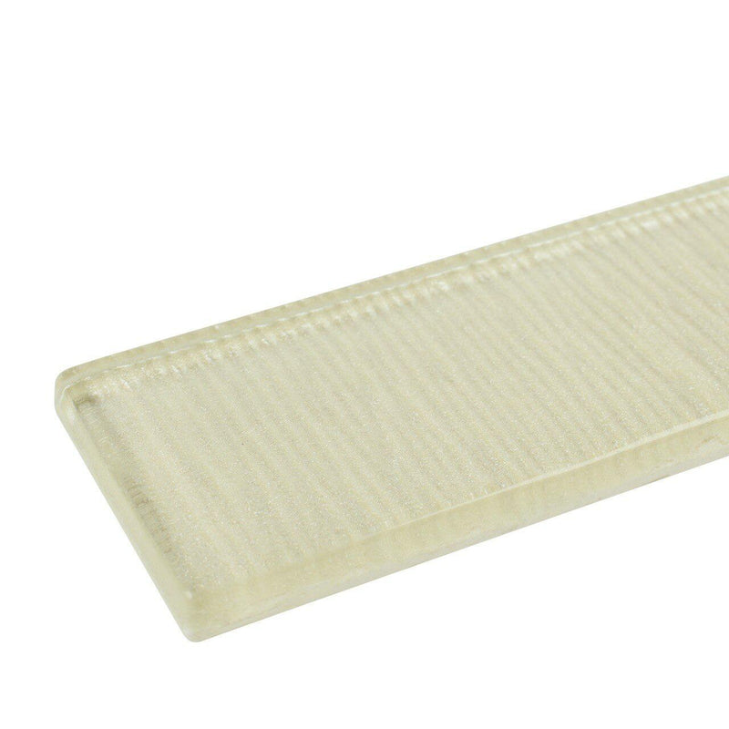 Glass Subway Tile Linen Champagne 2x8