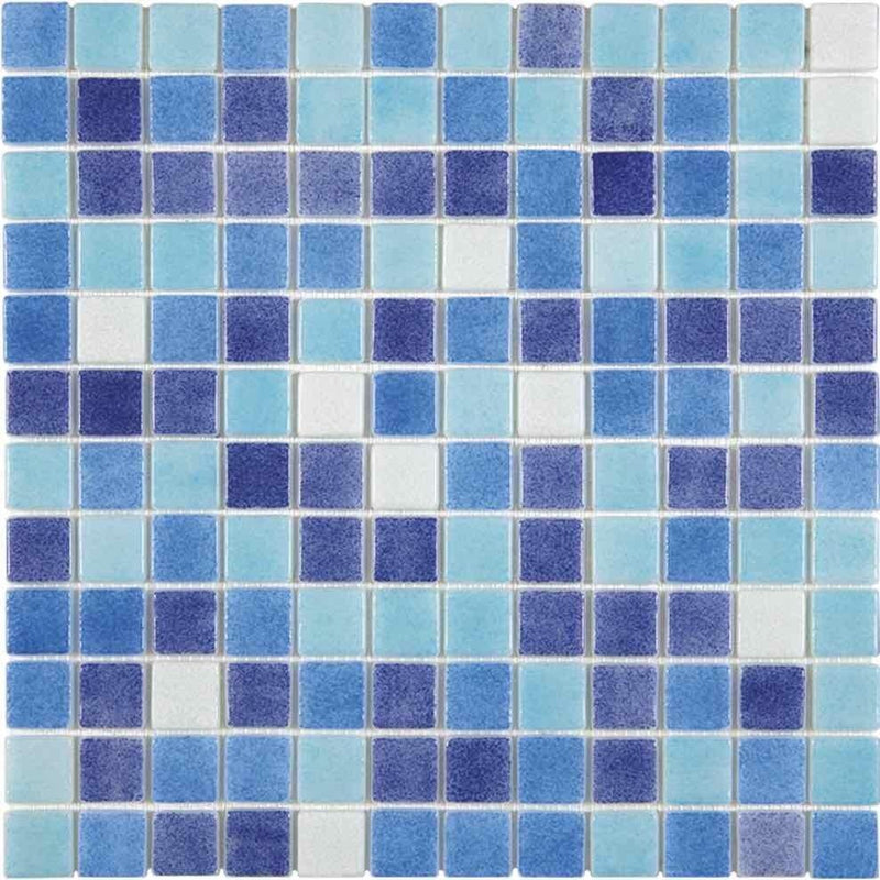 Pool Recycled Glass Tile Water Blend