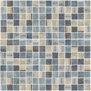 Oak Blue Vintage Mosaic Tile 1 x 1