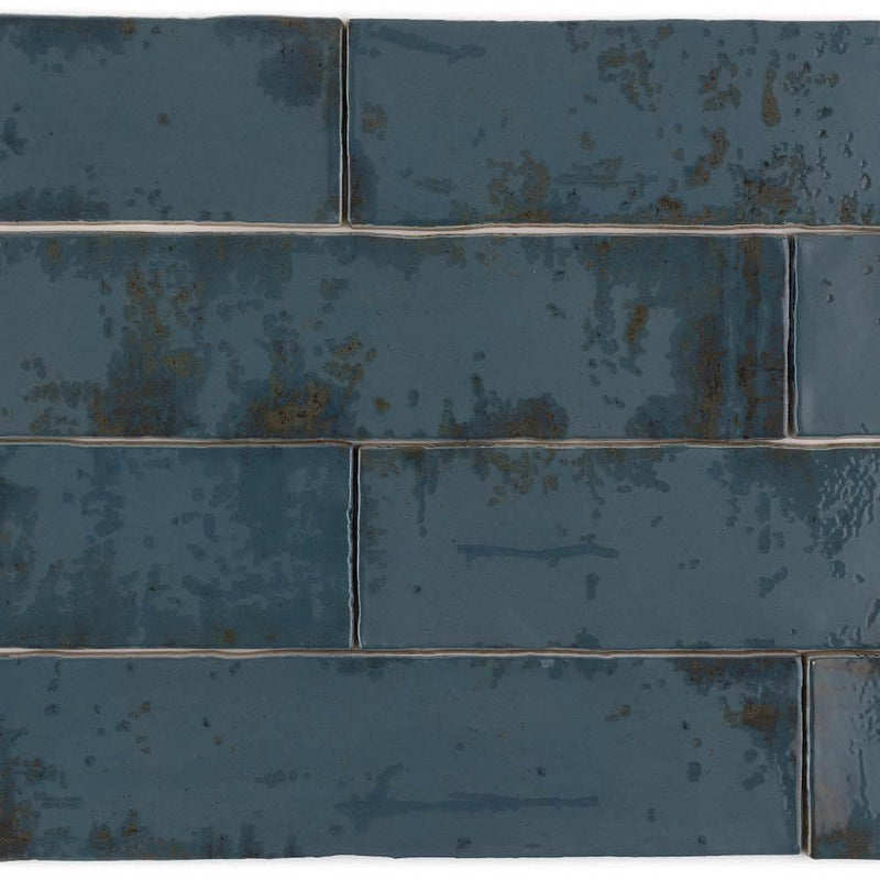 Vintage Subway Tile Blue 3 x 12