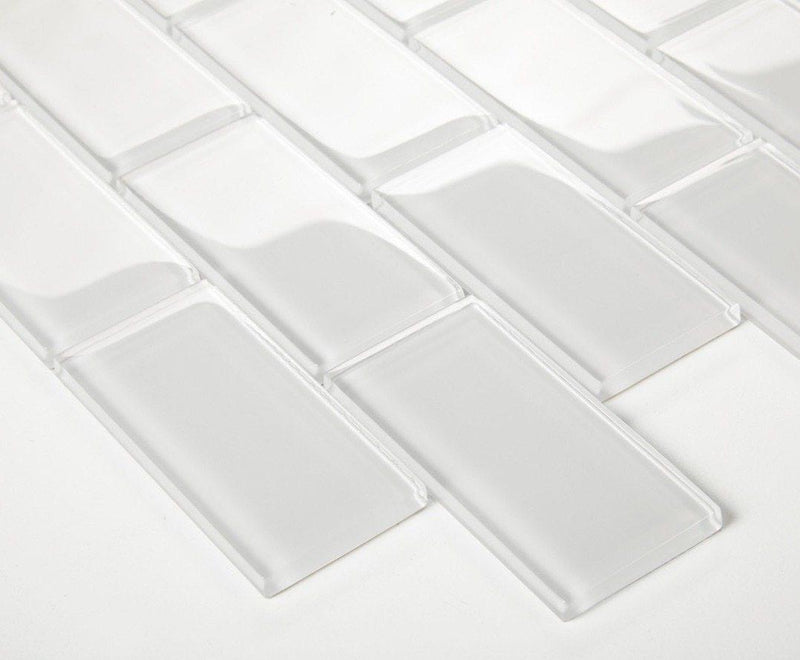 Subway Glass Tile Simplicity White 2x4