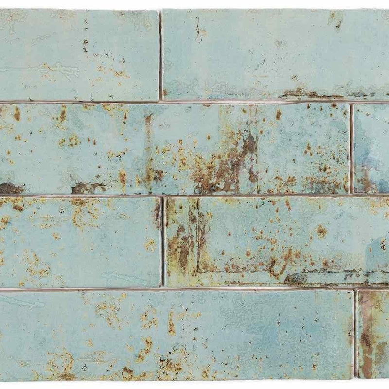 Vintage Subway Tile Aqua 3 x 12