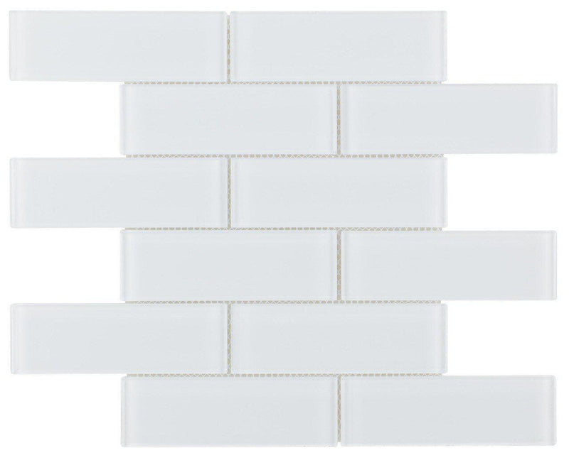 Glass Subway Tile Extra White 2x6