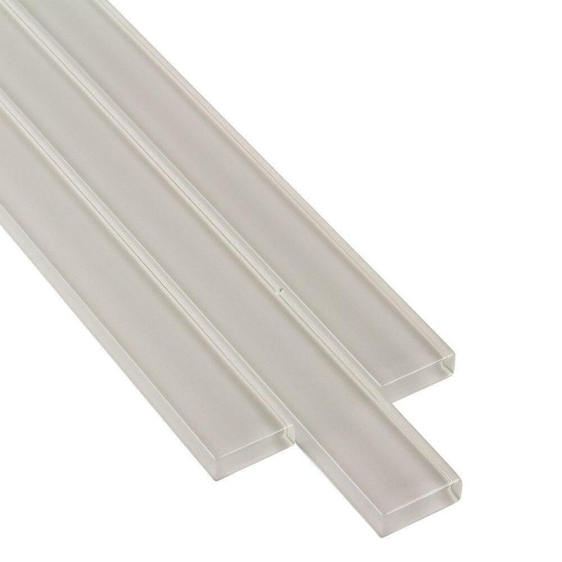 Glass Tile Pencil Liner Taupe Trim Piece