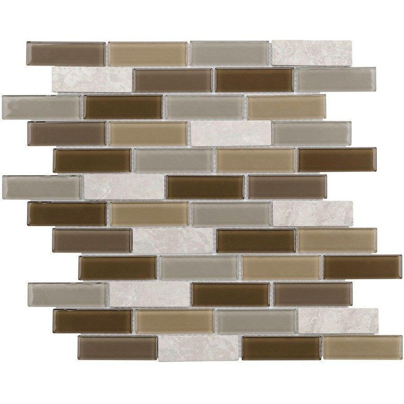 Glass Mosaic Tile Contemporary Brown