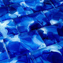 Liquid Glass Mosaic Tile Navy 2 x 3