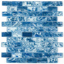 Storm Clear Glass Tile Dark Blue 1 x 2