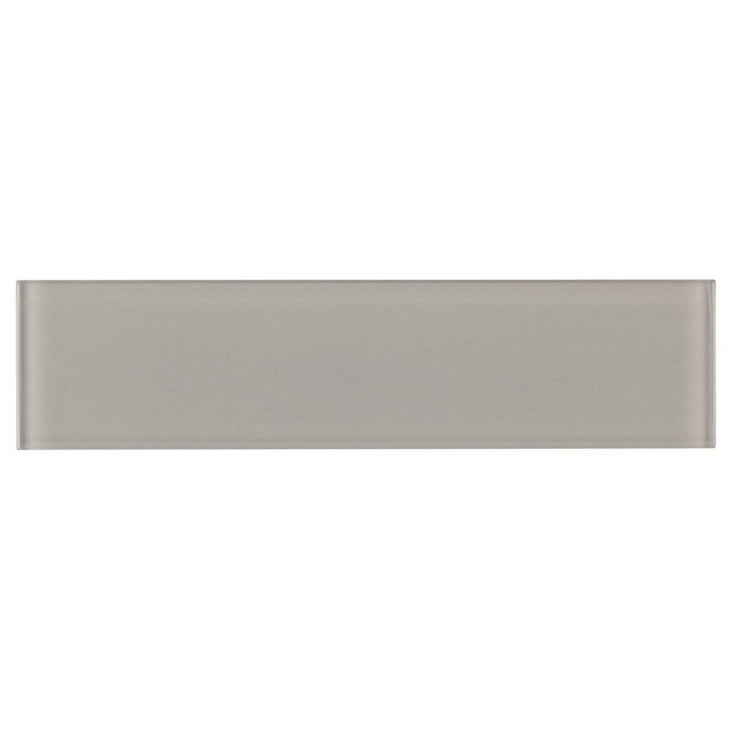 Glass Subway Tile French Gray 3x12