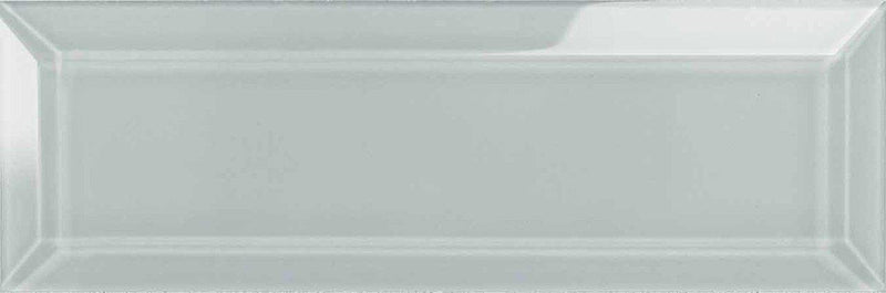 Glass Subway Tile Beveled Tender Gray 3 x 9