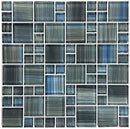 Greyblu Waters Glass Mosaic Tile Pattern for pools and bathrooms