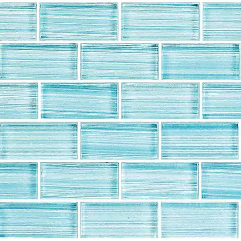Shallow Waters Glass Mosaic Tile 1x2 for swimming pool and bathroom