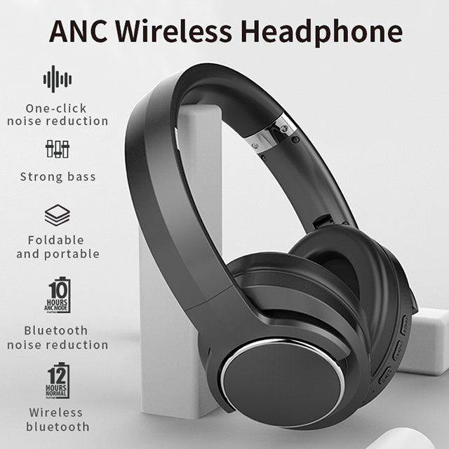 Wireless Foldable Noise Cancelling Headset With Mic YF1321