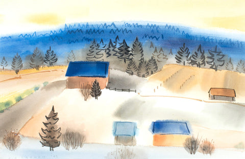 COLIN GRAHAM IN CENTRAL SAANICH, 1992 Watercolour 14x21 in. Mastersgallery
