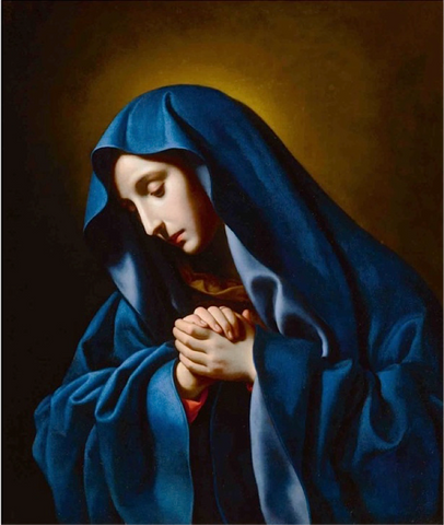 Carlo Dolci, Mater Dolorosa, oil on canvas 29 ½ X 25 in., 75 X 63.5 cm. Webx