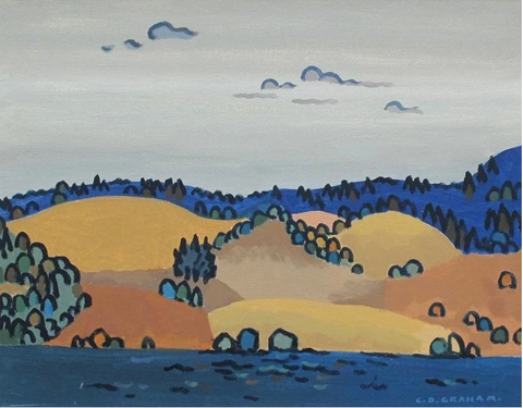 Colin Graham, Lakeside  oil on canvas 16 x 20 in.