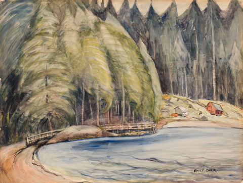 EMILY CARR, South Bay, Skidegate, water colour on paper 22 x 29 in, 55.9 x 73.7 cm