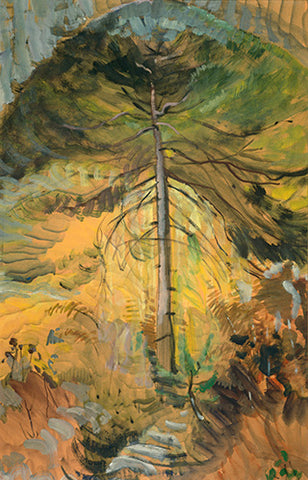 Emily Carr, Happiness (1939), oil on paper, 84.8 x 54 cm. University of Victoria Art Collection, Gift of Nikolai and Myfanwy Pavelic