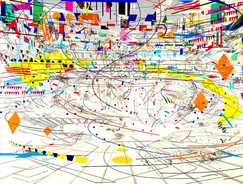 Julie Mehretu, Stadia II, 2004. Ink and acrylic on canvas, 107 3/8 × 140 1/8 in. (272.73 × 355.92 cm) Cover