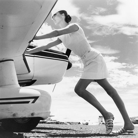 Norman Parkinson Gilded Summer, Vogue 1965 1965  Silver print, printed later. 20x24, 60.96 x 50.8 cm