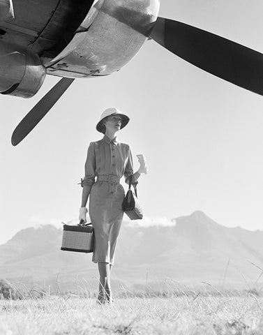 Norman Parkinson 'The Art of Travel II, Vogue' 1951  Silver print, printed later. 20x16, 50.8 x 40.64cm