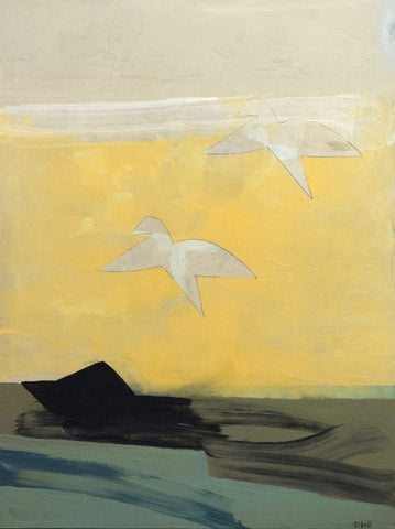 Yellow Bird Motion by Otto Rogers Year 2018 Medium Acrylic on Canvas Size 52 × 39 inches 132.08 × 99.06 cm.
