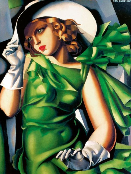 Tamara de Lempicka, Young Lady with Gloves, 21st Century  print on paper 21 × 28 in 53.3 × 71.1 cm - ARTSY