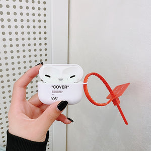 off white AirPods cases