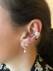 Rose gold PLAIN GALAXY EAR CUFF